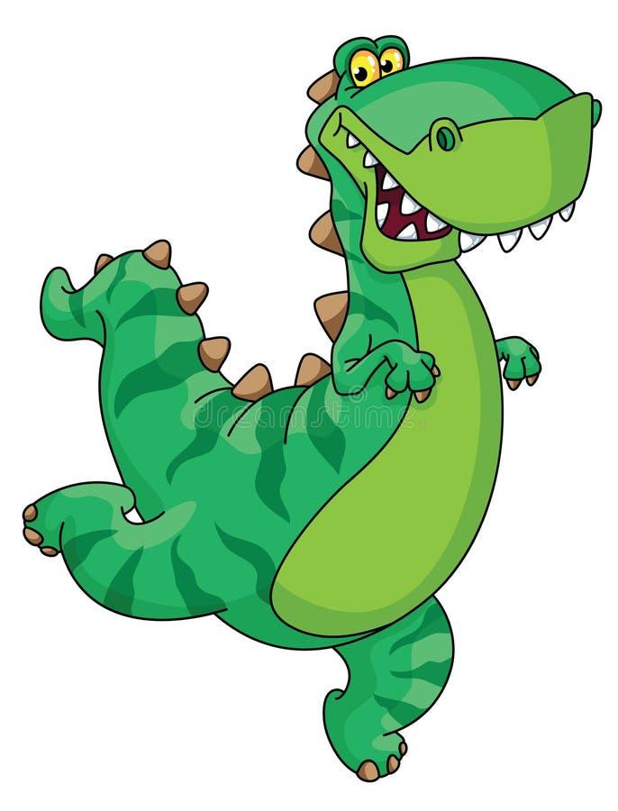 Dinosauro di fretta illustrazione vettoriale
