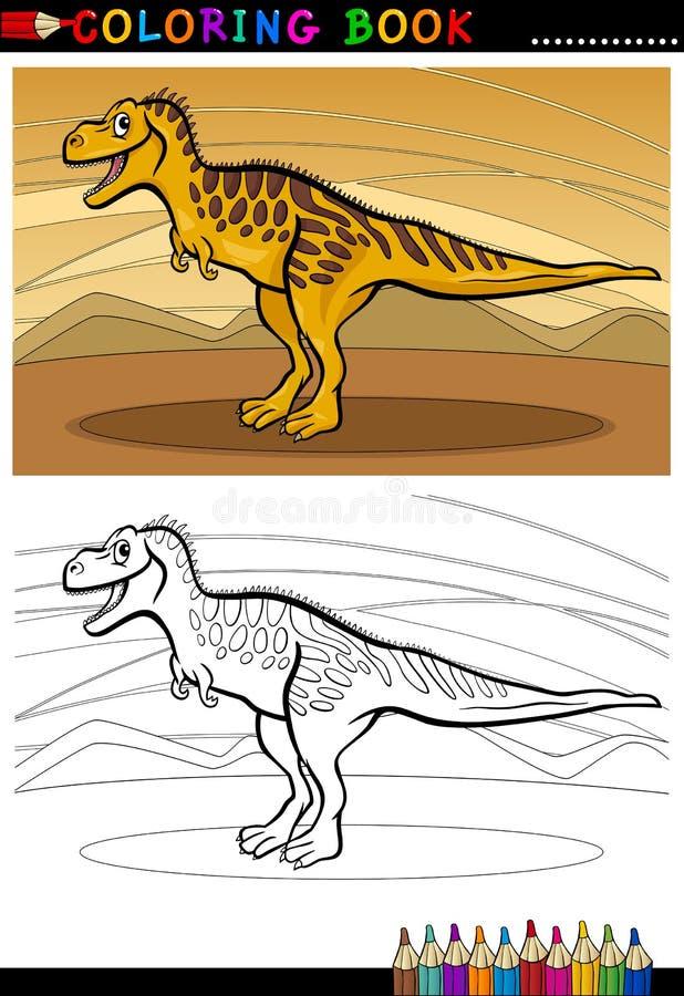 Dinosauro di Tarbosaurus per il libro da colorare illustrazione vettoriale