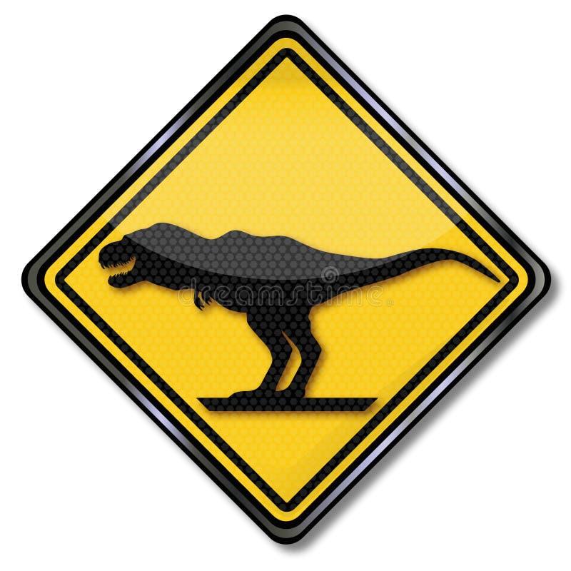 Dinosauro e tirannosauro illustrazione vettoriale