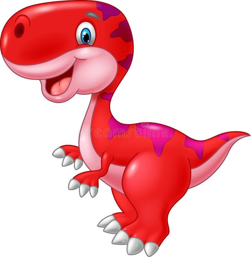 Dinosauro felice del fumetto royalty illustrazione gratis