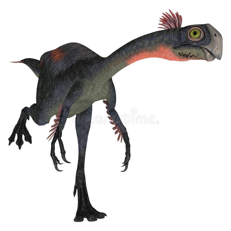 Dinosauro Gigantoraptor illustrazione di stock