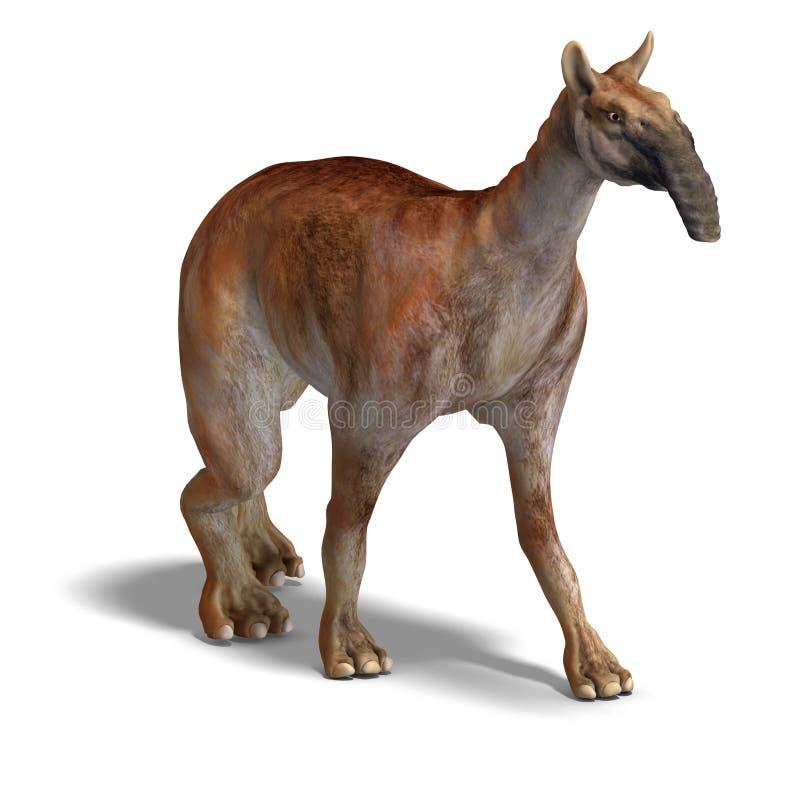 Dinosauro Macrauchenia illustrazione di stock