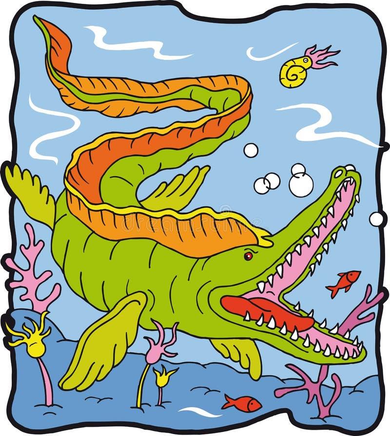Dinosauro Mosasauro illustrazione vettoriale