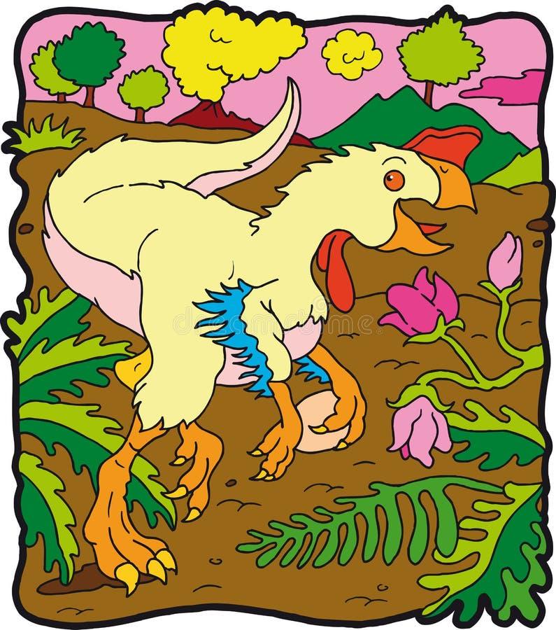 Dinosauro Oviraptor illustrazione vettoriale
