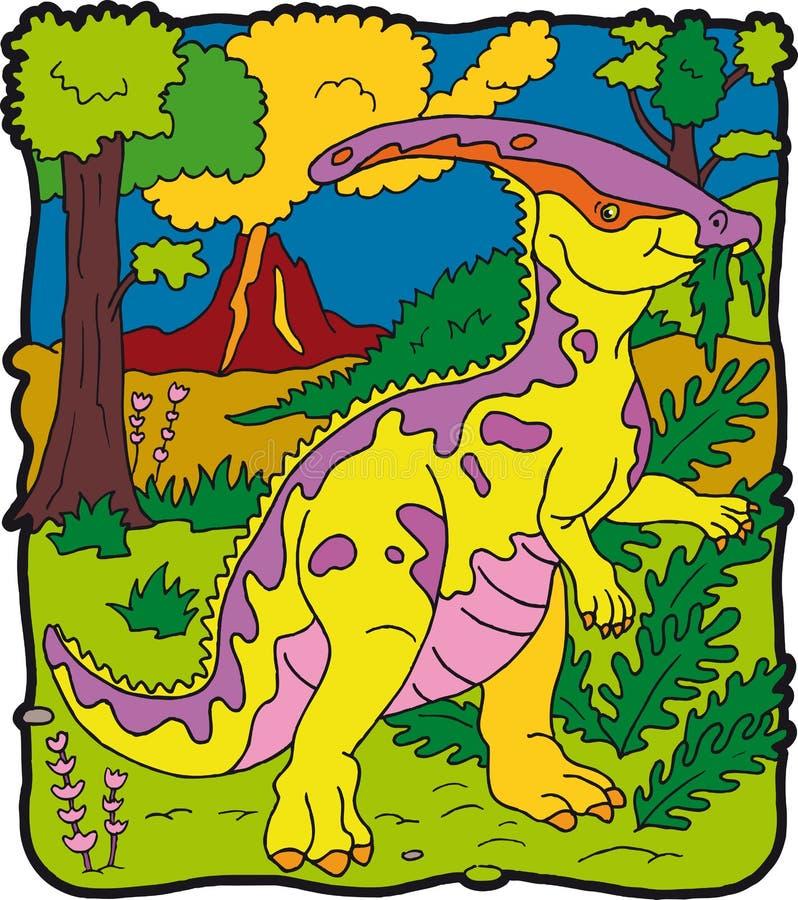 Dinosauro Parasaurolophus illustrazione di stock
