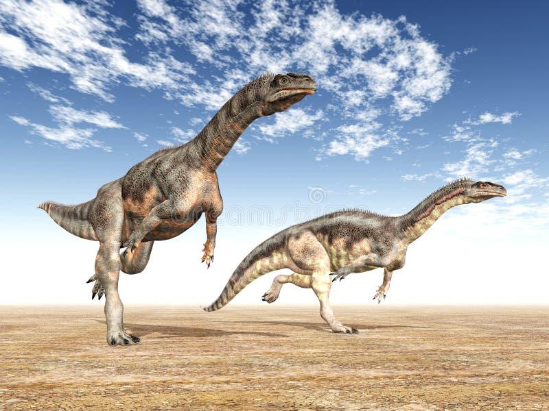 Dinosauro Plateosaurus illustrazione di stock