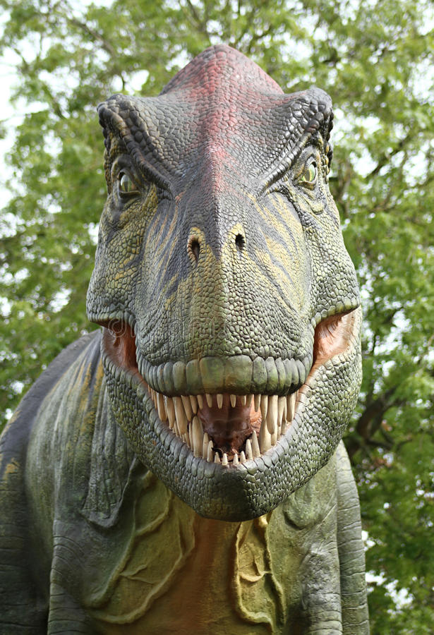 Dinosauro spaventoso fotografia stock