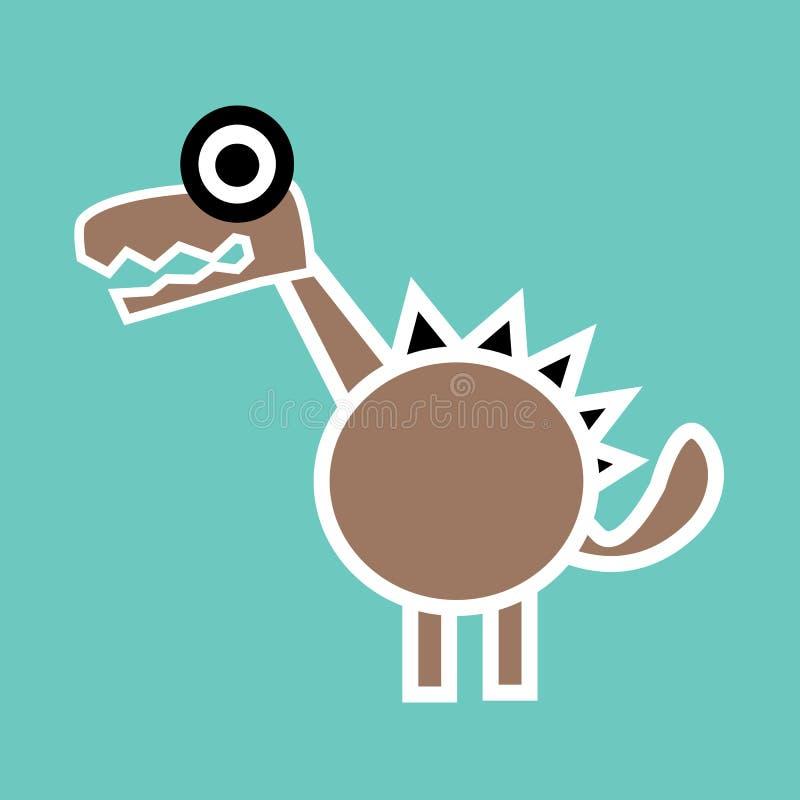 Dinosauro sveglio illustrazione vettoriale