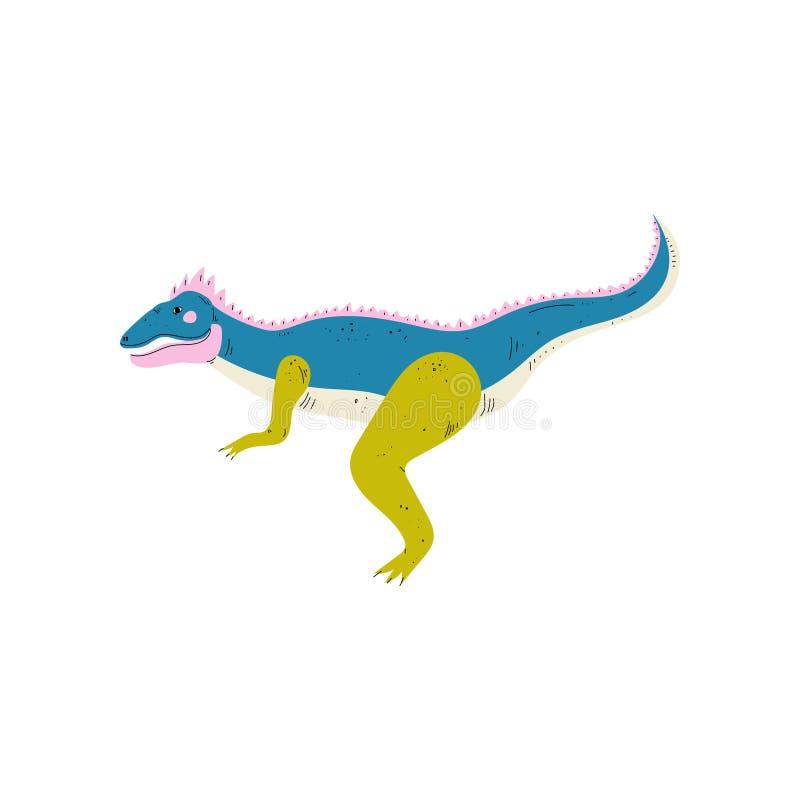 Dinosauro variopinto di apatosauro, illustrazione animale preistorica sveglia di vettore royalty illustrazione gratis