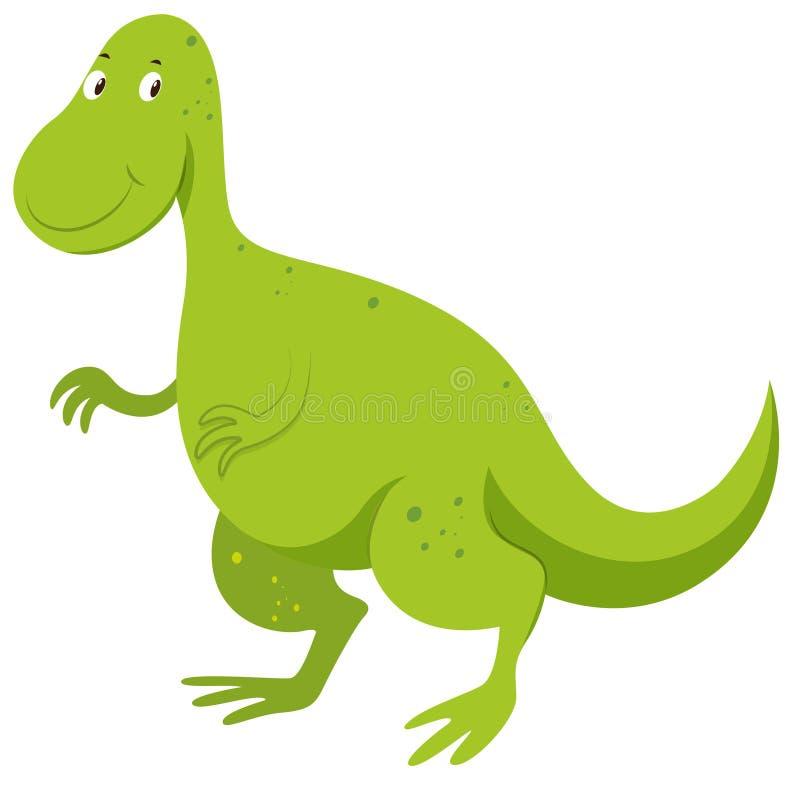 Dinosauro verde con il fronte felice royalty illustrazione gratis