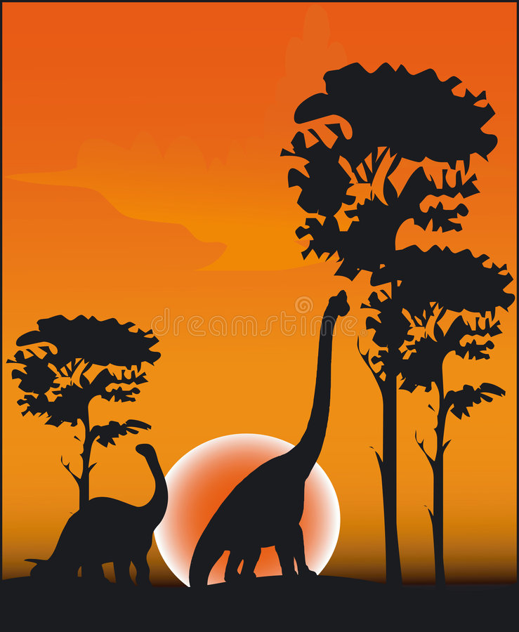 Dinosauro - vettore illustrazione vettoriale