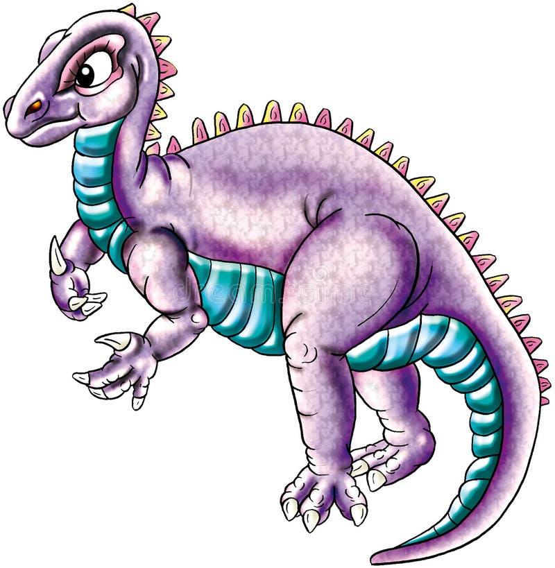 Dinosauro viola illustrazione vettoriale