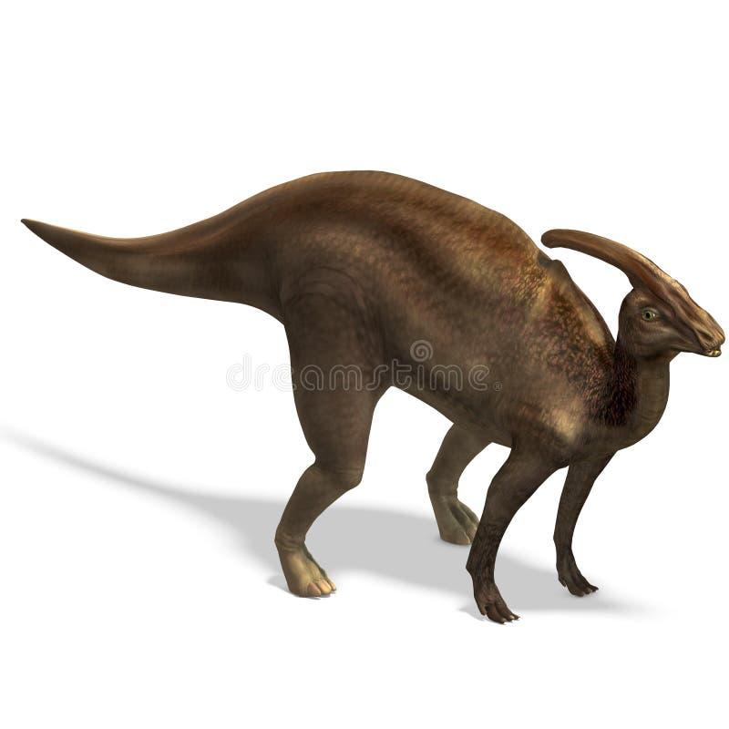 dinosaurparasaurolophus stock illustrationer
