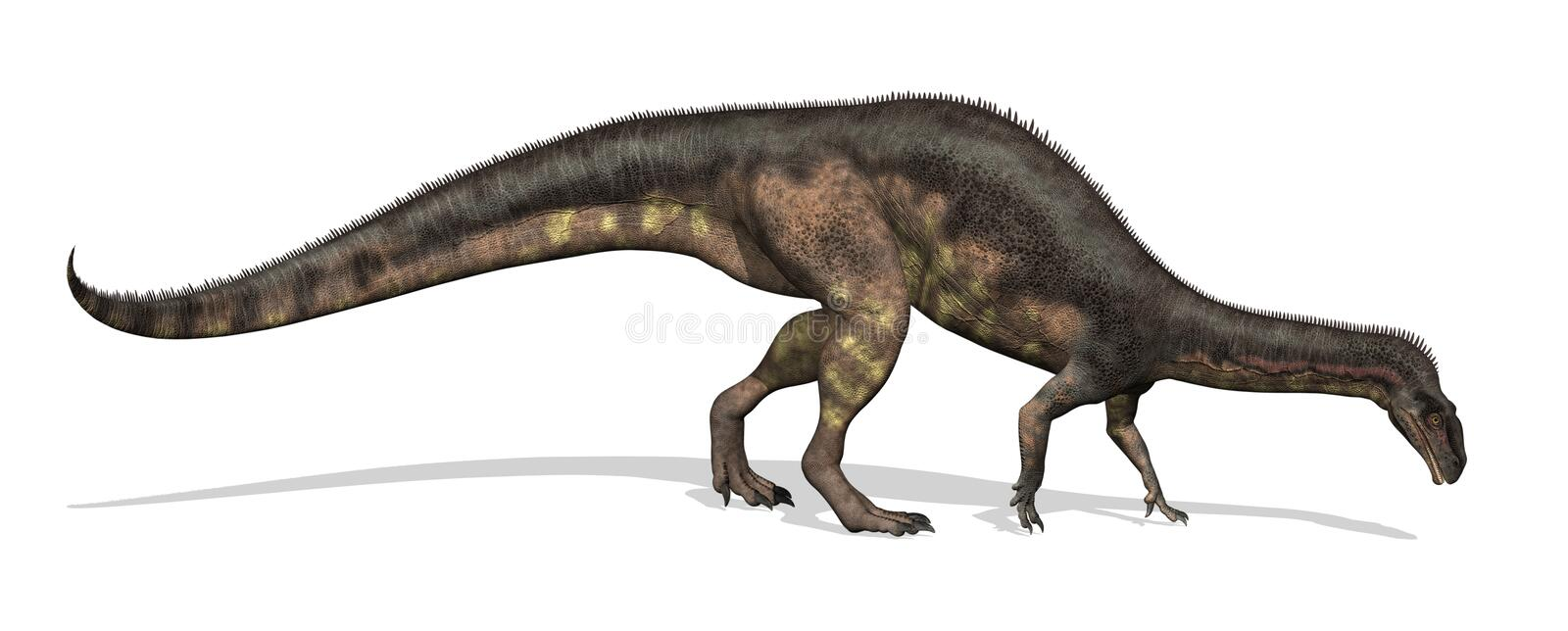 dinosaurplateosaurus stock illustrationer