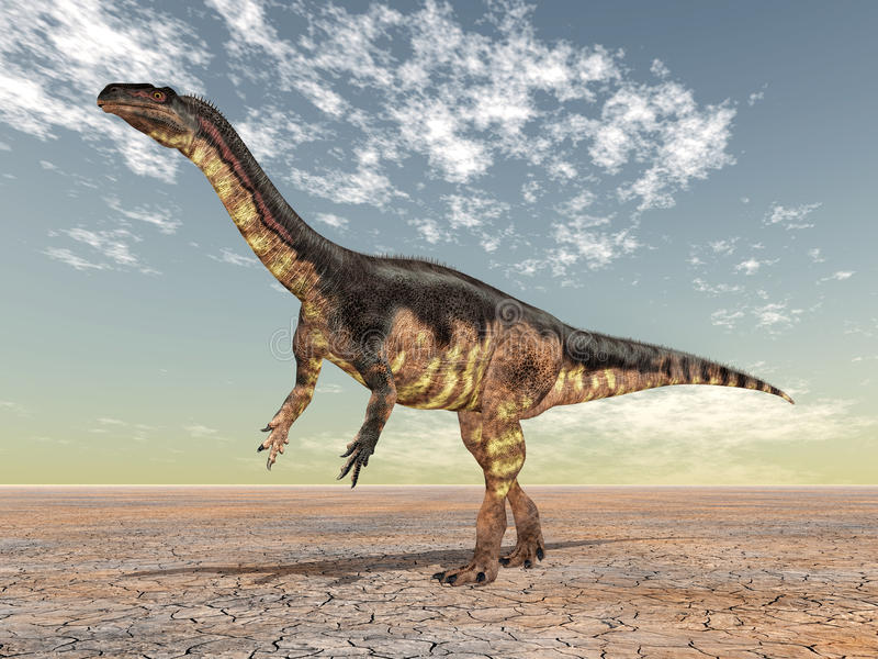 dinosaurplateosaurus stock illustrationer