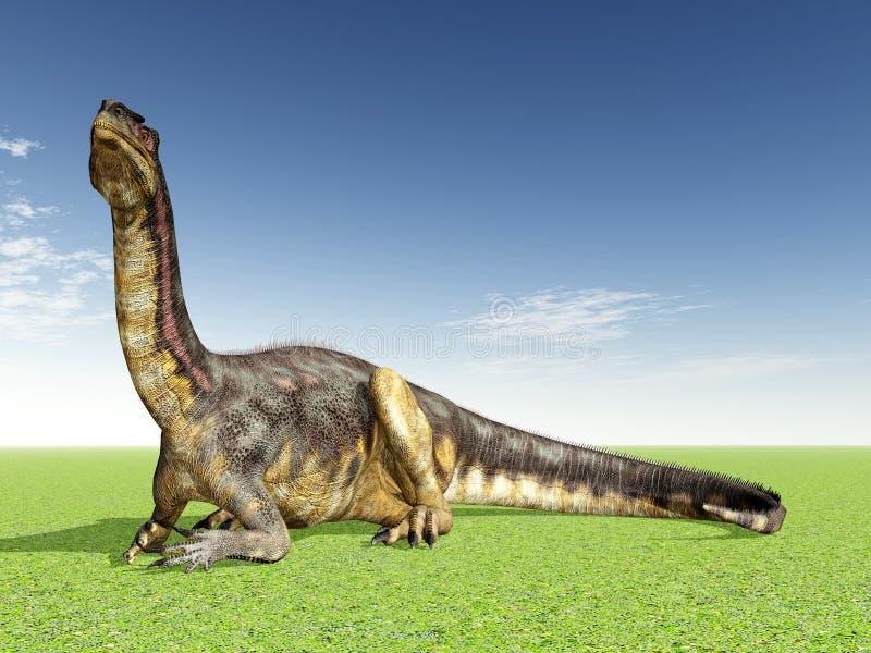 dinosaurplateosaurus vektor illustrationer