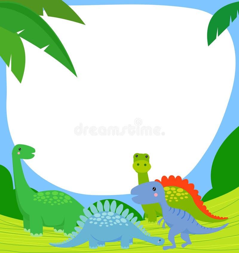 dinosaurram royaltyfri illustrationer