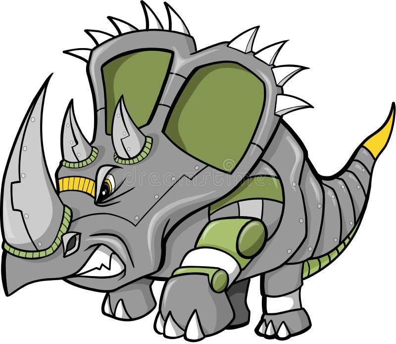 dinosaurrobotvektor vektor illustrationer
