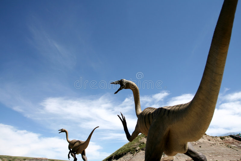 Download Dinosaurs stock photo. Image of chase, dinosaur, blue - 1585658