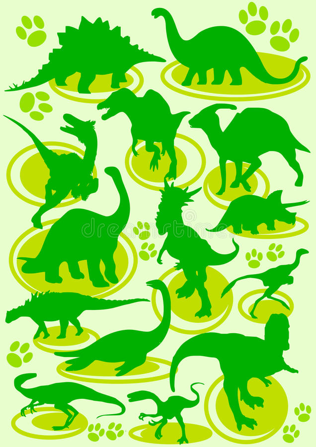 dinosaurs vektor illustrationer