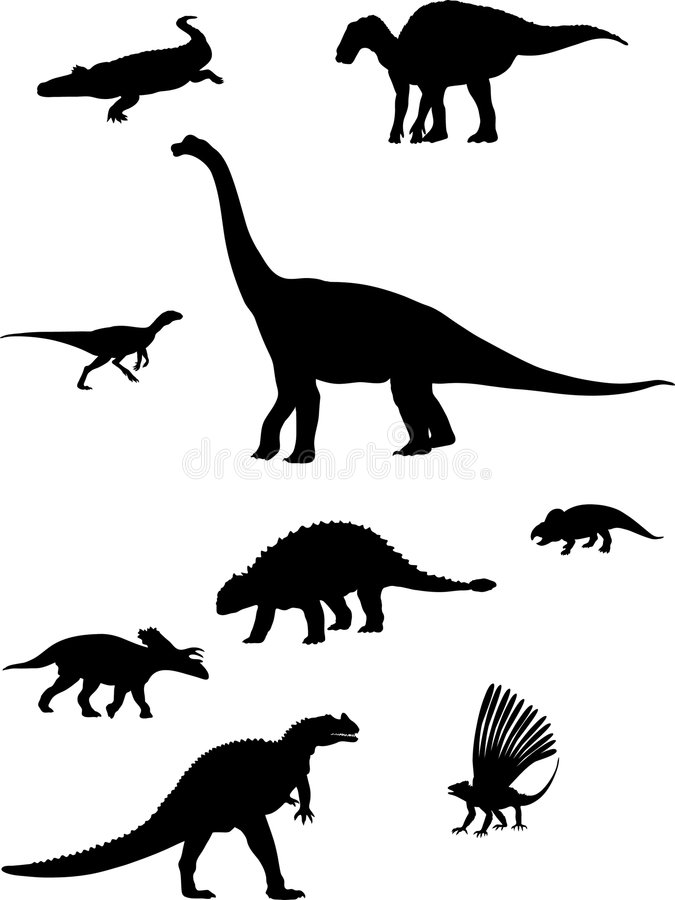 dinosaurs stock illustrationer