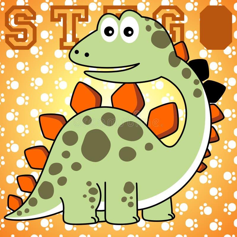 Dinosaurs cartoon vector illustration