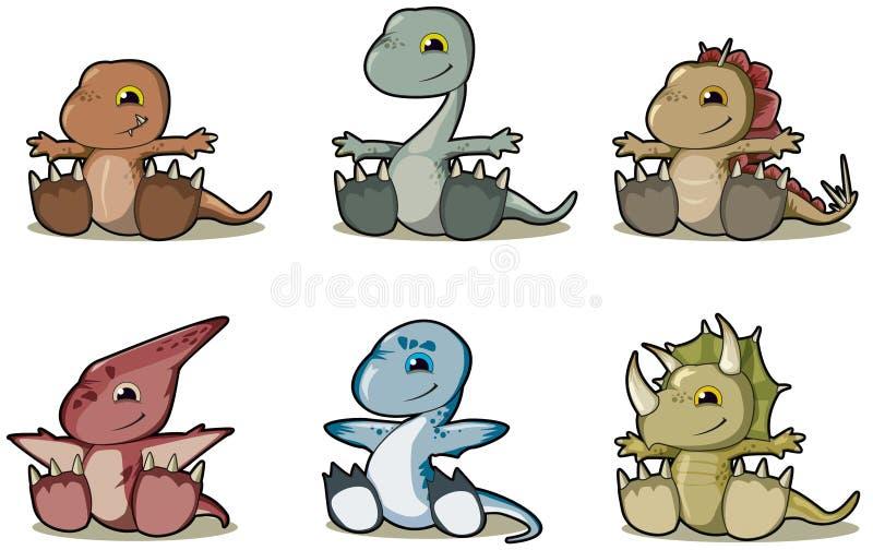 Dinosaurs de chéri illustration stock