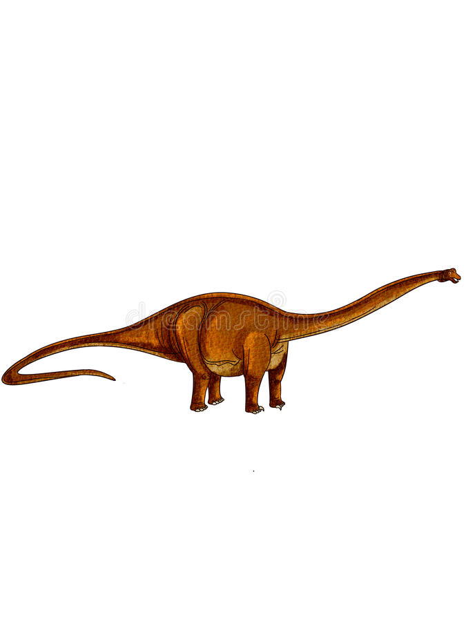Dinosaurs:diplodocus Stock Images