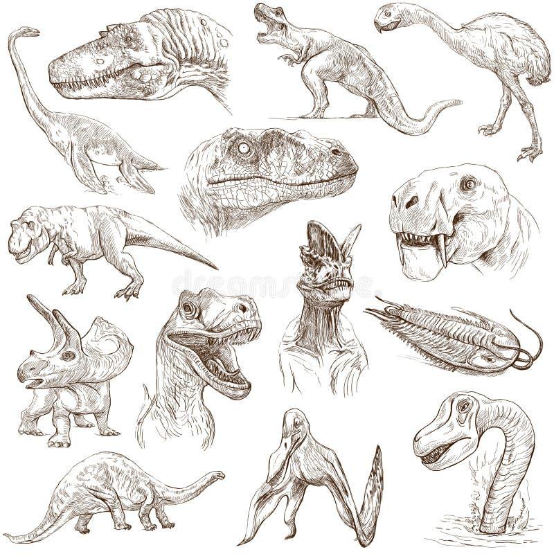 Download Dinosaurs stock illustration. Illustration of archeology - 39506616