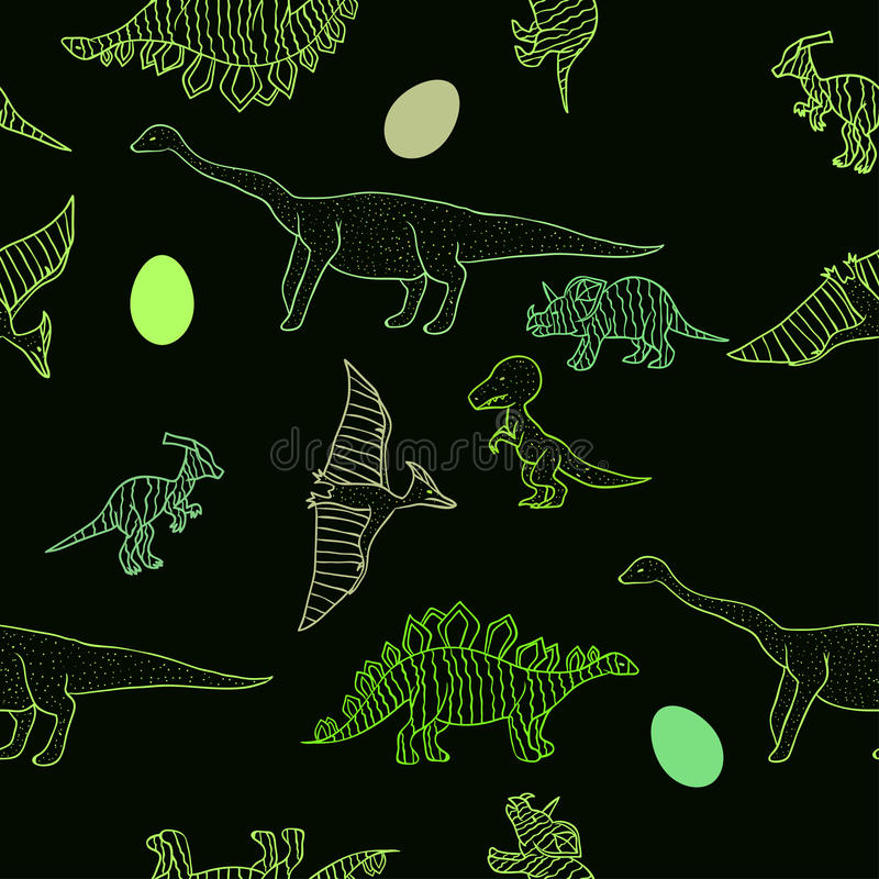 Dinosaurs pattern vector illustration