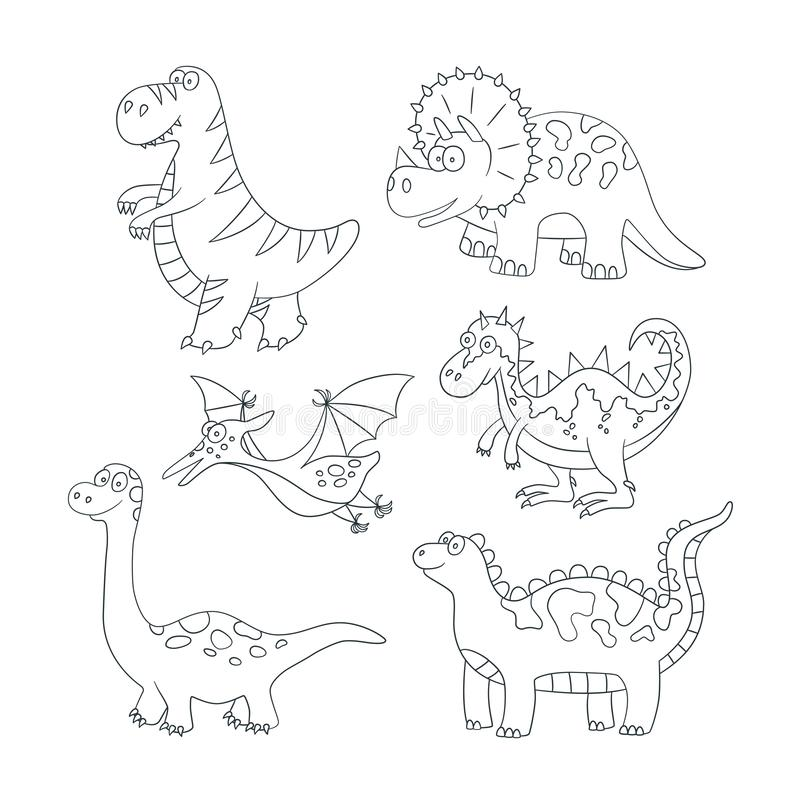 Drawing Dragon For Coloring Book Stock Vector
