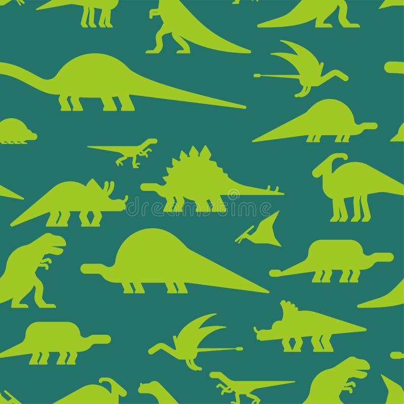 Dinosaurs seamless pattern. Dino texture. Prehistoric monster li. Zard background. Ancient animal cartoon style. Childrens cloth ornament. Vector illustration royalty free illustration
