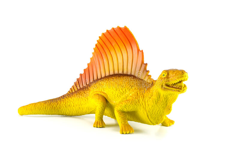 Dinosaurs toy. Isolated on white royalty free stock photo