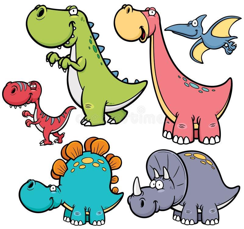 Dinosaurs. Vector illustration of Dinosaurs cartoon characters vector illustration
