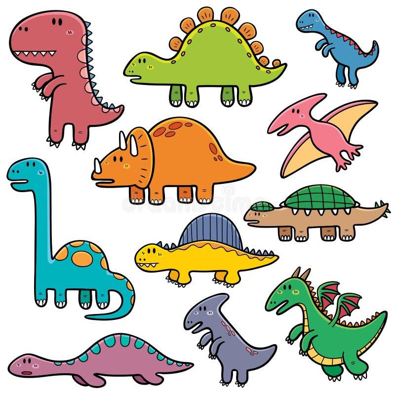 Dinosaurs. Vector illustration of Dinosaurs cartoon characters royalty free illustration