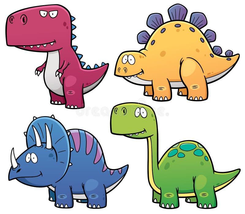 Dinosaurs. Vector illustration of Dinosaurs cartoon characters stock illustration
