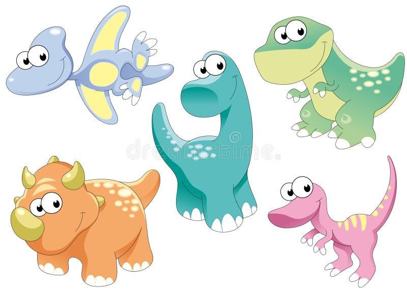 dinosaursfamilj royaltyfri illustrationer