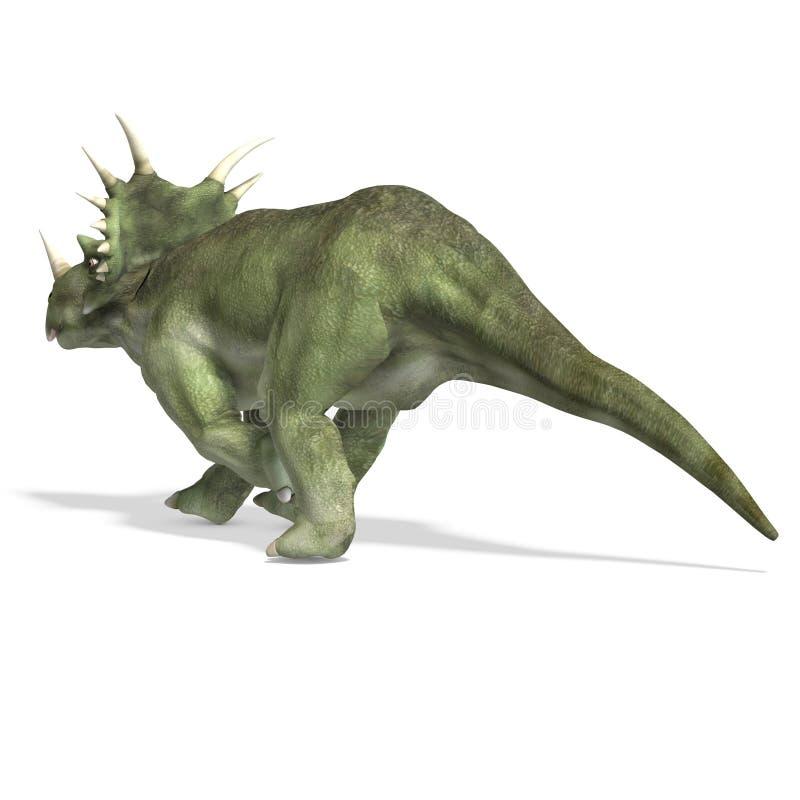 dinosaurstyracosaurus royaltyfri illustrationer