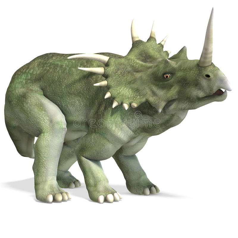 dinosaurstyracosaurus vektor illustrationer