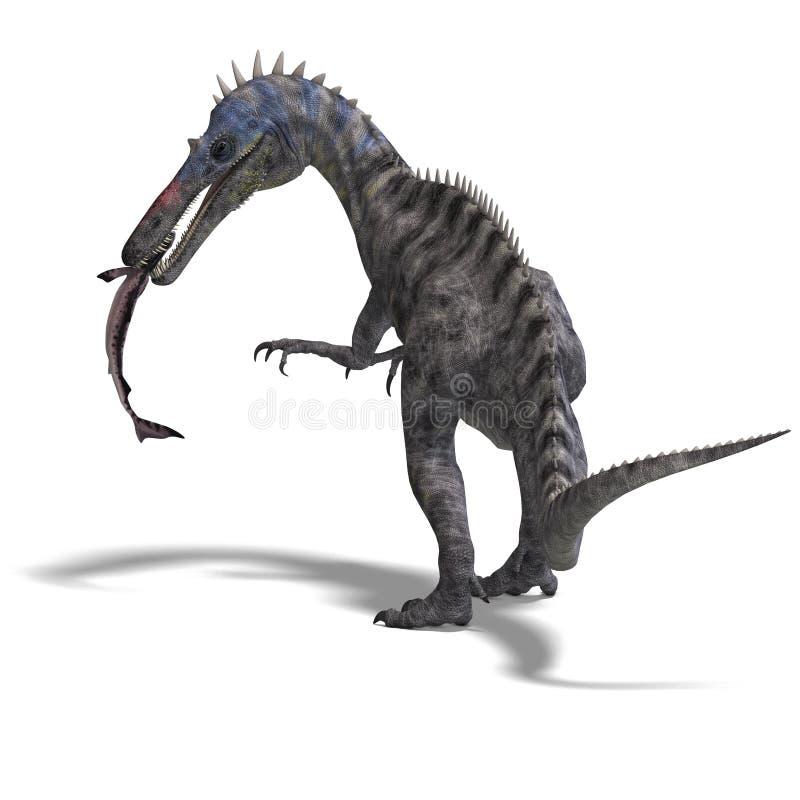 dinosaursuchominus vektor illustrationer