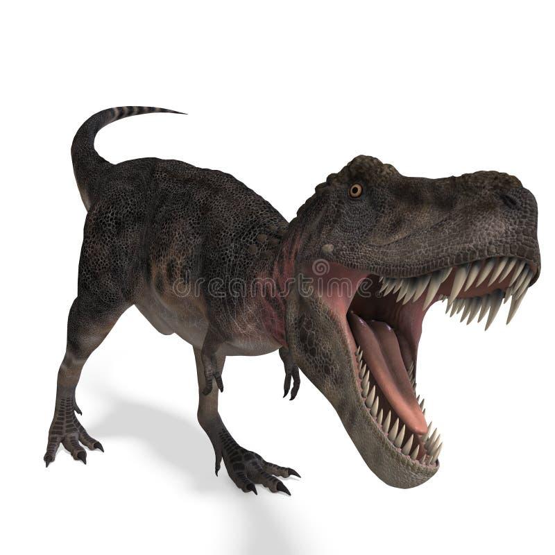 dinosaurtarbosaurus royaltyfri illustrationer