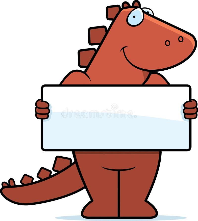dinosaurtecken stock illustrationer