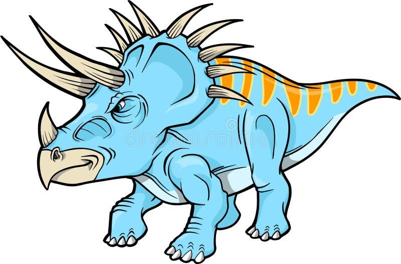 dinosaurtriceratops royaltyfri illustrationer