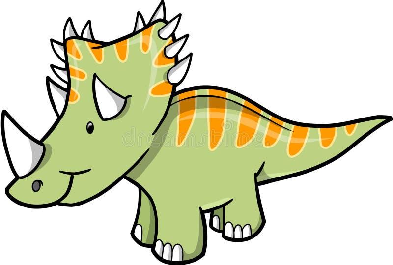 dinosaurtriceratopsvektor stock illustrationer