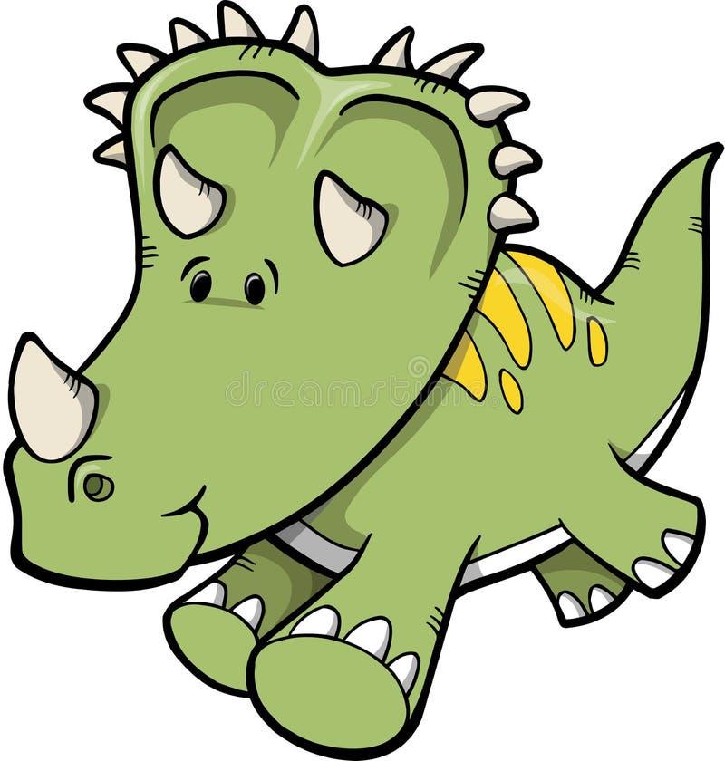 dinosaurtriceratopsvektor royaltyfri illustrationer