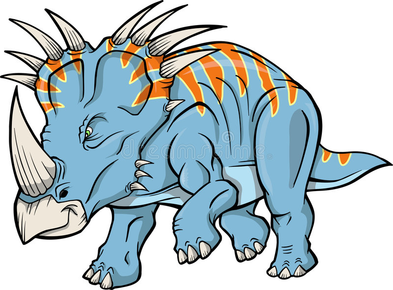 dinosaurtriceratopsvektor vektor illustrationer
