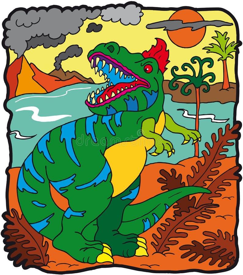 dinosaurtyrannosaurus royaltyfri illustrationer
