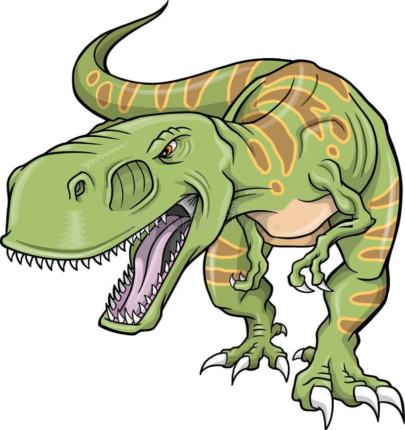 dinosaurtyrannosaurusvektor royaltyfri illustrationer