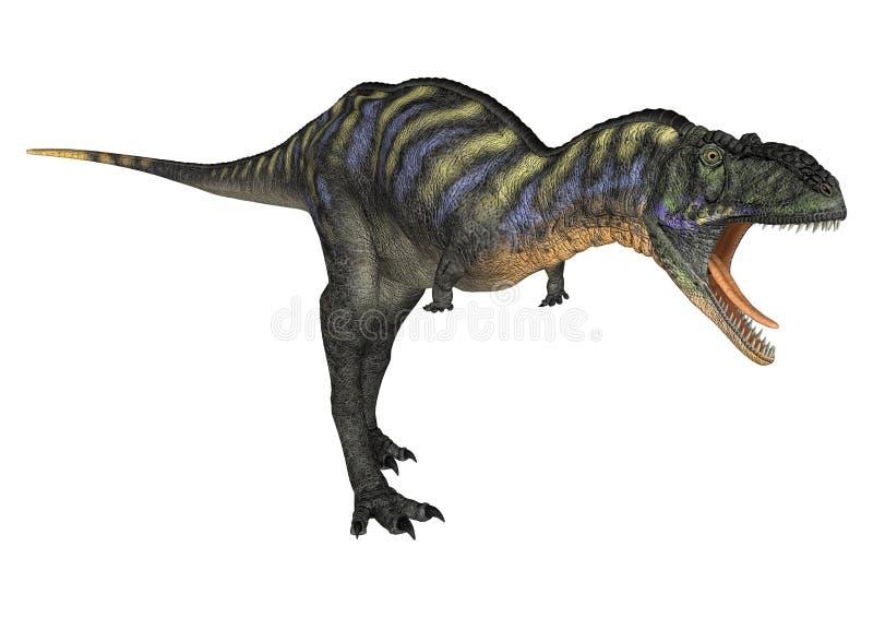 Dinosaurus Aucasaurus stock illustratie