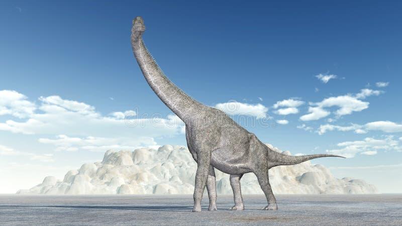 Dinosaurus Brachiosaurus vector illustratie